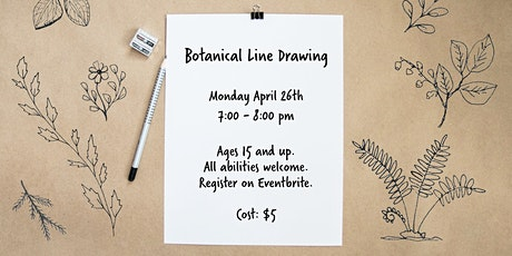 Botanical Line Drawing -  Adult Online Nature Art Workshop tickets