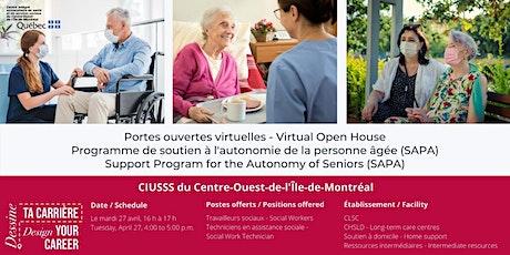 Portes ouvertes virtuelles -  TS et TTS  (SAPA) tickets