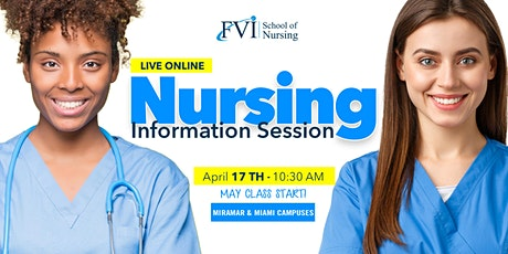 Live Online Nursing Information Session for Miramar & Miami Campuses Tickets