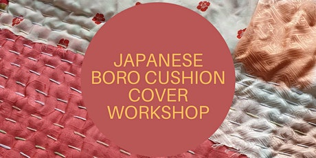 Make a Japanese Boro inspired cushion cover tickets