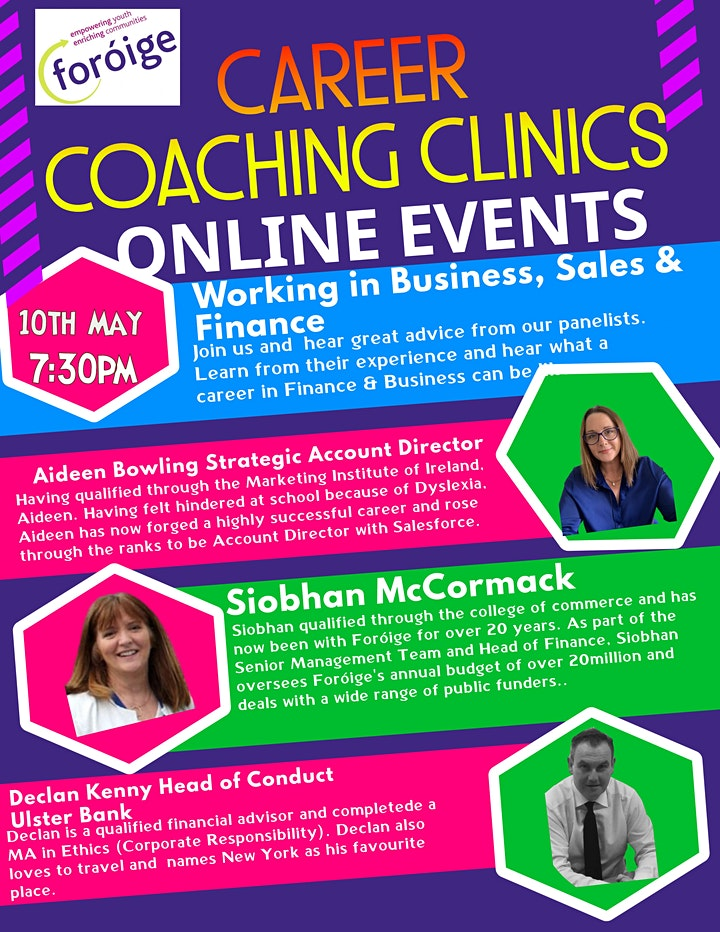 Foróige Careers Coaching Clinic - Business, Sales  & Finance image