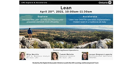 LRC Explore and Accelerate: Lean tickets