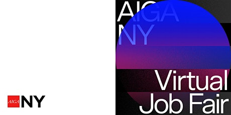 Recruiter Registration ~ AIGA NY Virtual Job Fair tickets