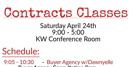 Buyer & Seller Agency Training - Contracts and More! tickets