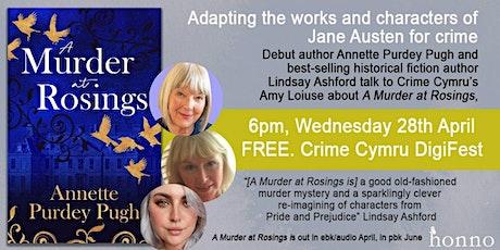 Gwyl Crime Cymru Event 5 - Adapting Jane Austen for crime fiction tickets