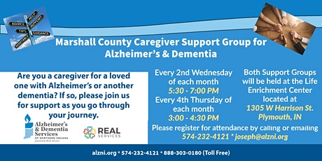 Marshall County Alzheimer's & Dementia Caregiver Support Group tickets