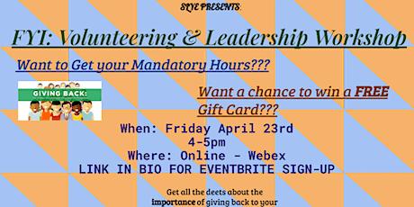 Online Roadshow: FYI Volunteering & Leadership Workshop tickets