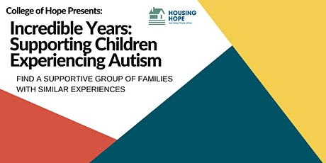 Incredible Years: Supporting Children Experiencing Autism tickets