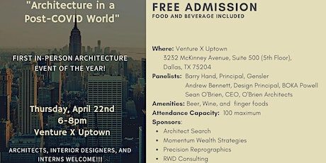 Architecture in a Post COVID World tickets