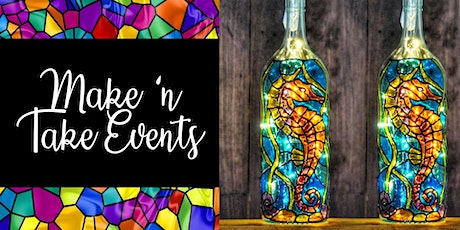 Stained Glass Wine Bottle - Sea Horse tickets