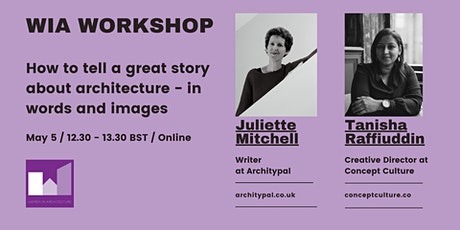 WORKSHOP: How to tell a great story about architecture- in words and images biglietti