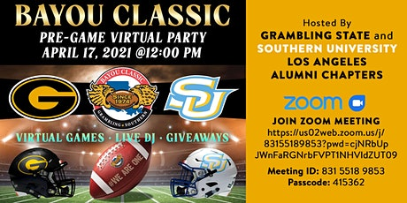 Bayou Classic Pre-Game Virtual Party tickets