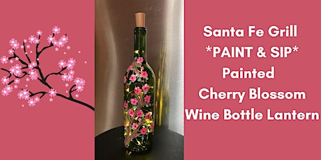 Paint and Sip(Cherry Blossom Painted Wine Bottle Lantern) tickets