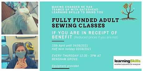 Sewing Classes at Bensham Grove tickets