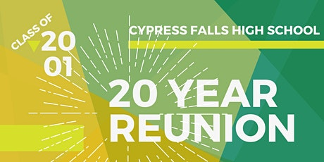 20 YEAR REUNION - CYFALLS CLASS OF 2001 tickets