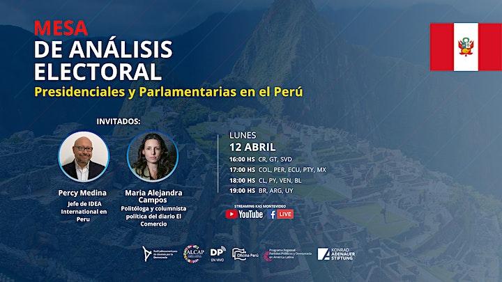 Mesa de Análisis Electoral - Presidenciales y Parlamentarias en el Perú image