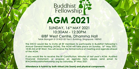 BF AGM 2021  @ BF West Centre or via Zoom (For BF Members Only) tickets