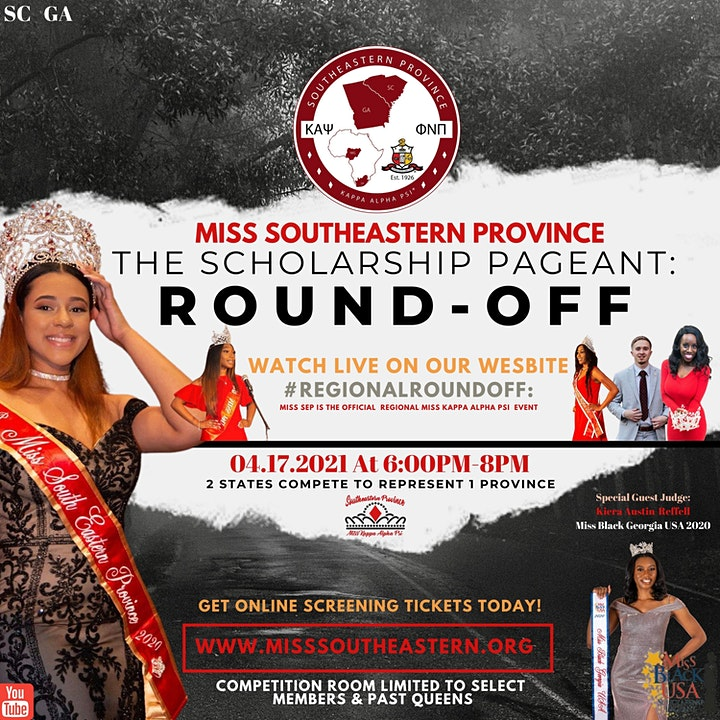 Miss SouthEastern Pageant: 2021 Scholarship Round-Off LIVE-Screening image