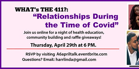 WHAT's THE 411?: Black Relationships, Sexual Health, and COVID-19 tickets