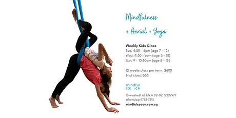 Term 2: Weekly Kids Mindfulness + Yoga + Aerial tickets