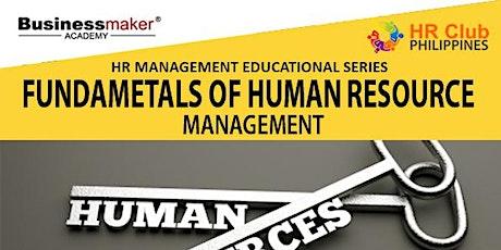 Live Webinar:  Course Program Fundamentals of Human Resource Management tickets