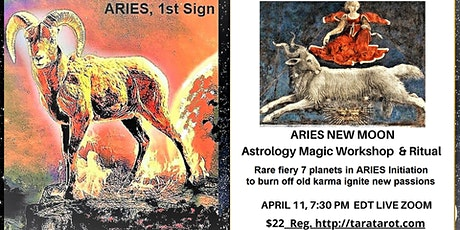 Rare Aries New Moon  ASTROLOGY MAGIC WORKSHOP FIRE INITIATION tickets