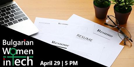 Build a stellar resume - Workshop tickets