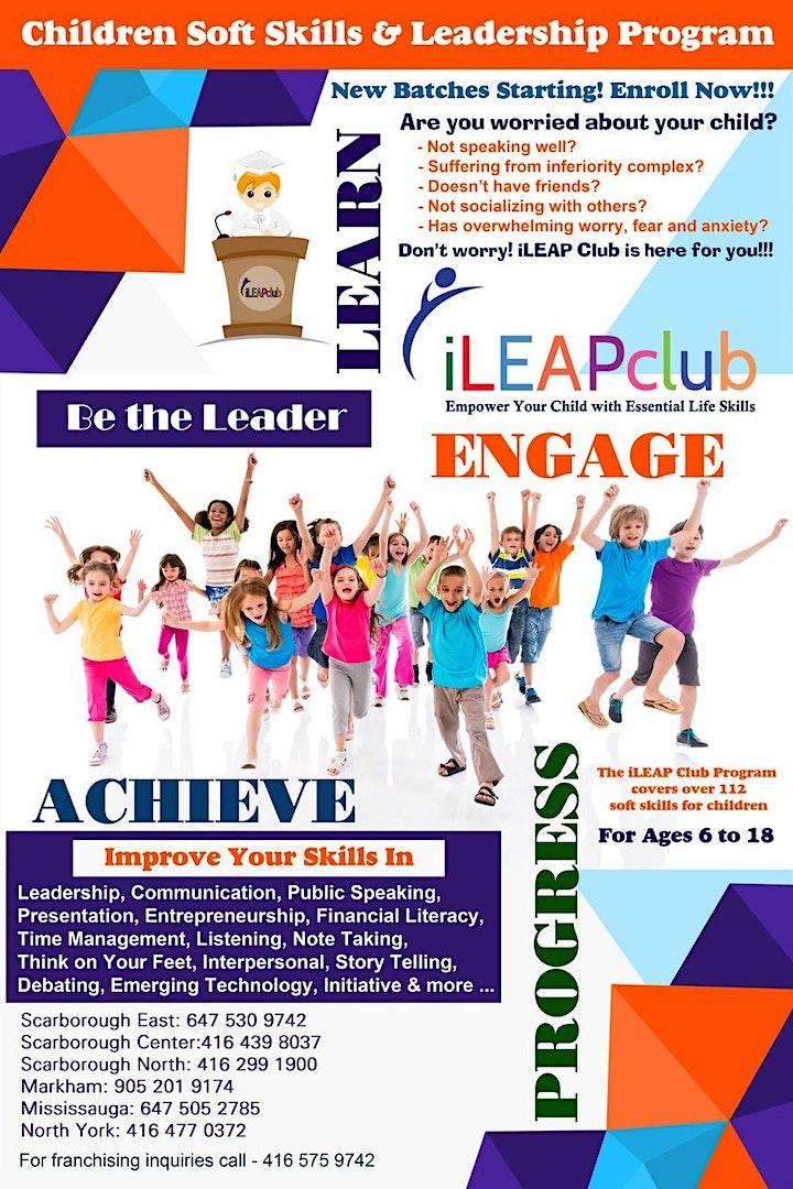 Free Senior iLEAP Club Public Speaking Demo Session (Ages 12-17) image
