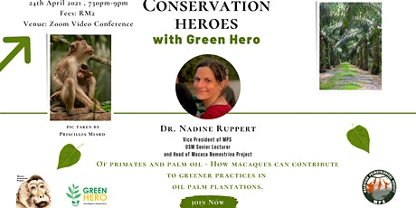 How macaques can contribute  to greener practices in  oil palm plantations. tickets