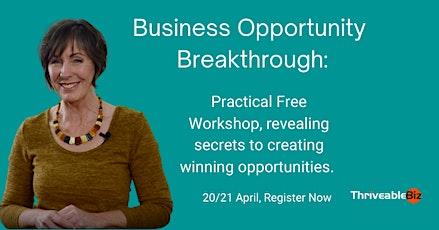 Business Opportunity Breakthrough-Secrets to creating winning opportunities bilhetes