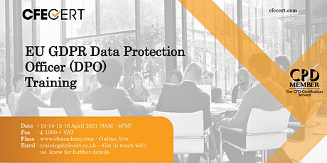 EU GDPR Data Protection Officer (DPO)  Training tickets