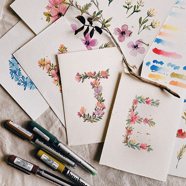 Floral Letters with Karin Brushmarkers Workshop image