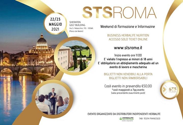 Immagine STS ROMA Maggio | Weekend di Formazione BUSINESS Herbalife Nutrition