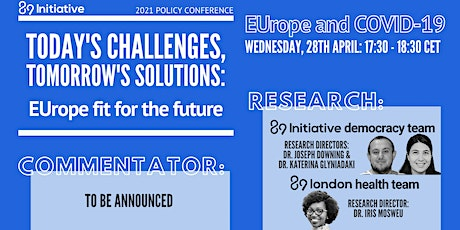EUrope Fit for the Future - Panel: EUrope and COVID-19 tickets