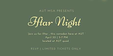 AUT MSA Iftar Night 2021 tickets