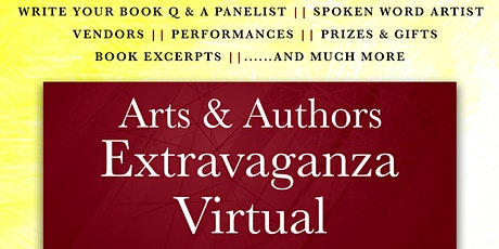 Arts & Authors Extravaganza- Virtual tickets
