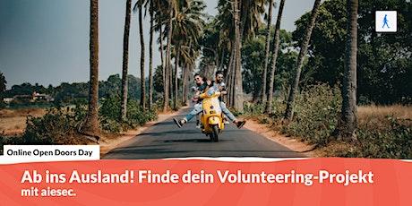 Ab ins Ausland! Finde dein Volunteering-Projekt Tickets