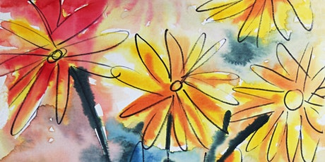 Watercolor Flower Vase, Art Class for Teens and Adults tickets