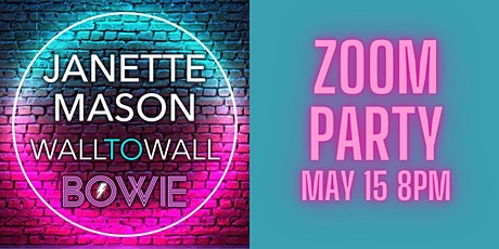 Wall To Wall Bowie Zoom Party with special guest David McAlmont tickets