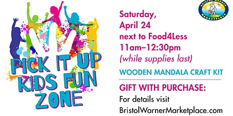 FREE Craft Kits With $20 Purchase At  Bristol Warner Marketplace KFZ tickets
