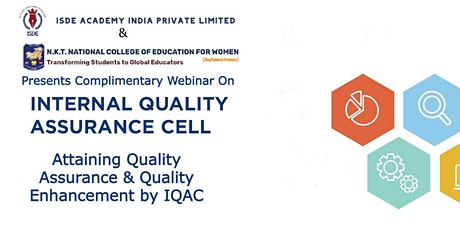 Attaining Quality Assurance & Quality Enhancement  by IQAC tickets