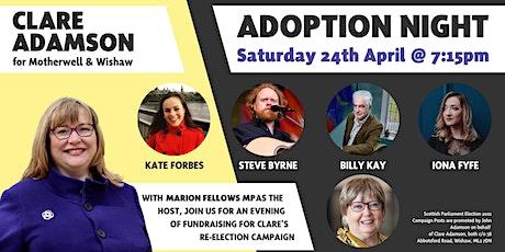 Clare Adamson SNP's Adoption Night tickets