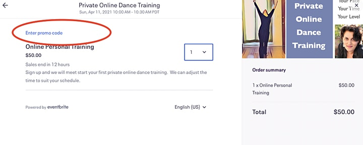 Private Online Dance Training image