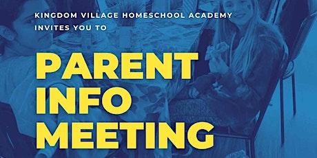Kingdom Village Homeschool Academy Informational Meeting tickets