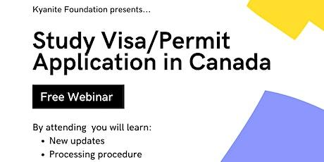 Study Visa / Permit Application process in Canada tickets