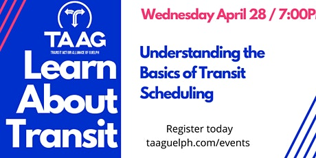 Learn about Transit:  Understanding Basic Transit Scheduling Concepts. tickets