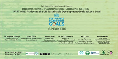 International Planning Comparisons: Achieving the UN SDGs at Local Level tickets