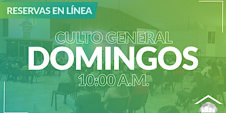Culto Presencial Domingo / 18 Abril / 10:00 am boletos