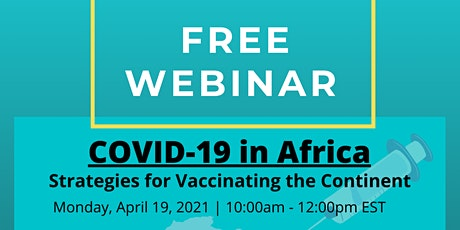 COVID-19 in Africa: Strategies for Vaccinating the Continent entradas