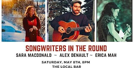 Songwriters' Night with Sara MacDonald, Alex Denault, and Erica Mah tickets